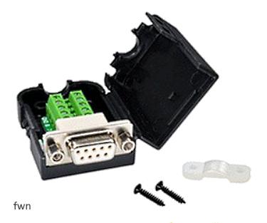 A03 Adapter DB9 żeński z nakrętką do zacisku śrubowego 9 pin