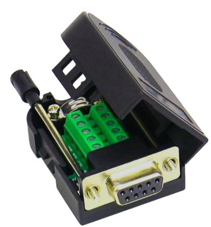 A04 Adapter DB9 żeński ze śrubą do zacisku śrubowego 9 pin